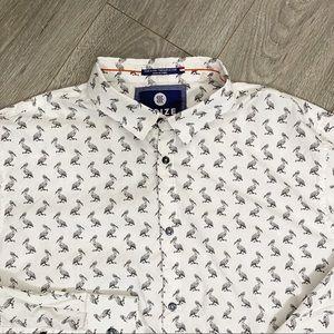 Noize Amstrdm Pelican Shirt Button Front XXL